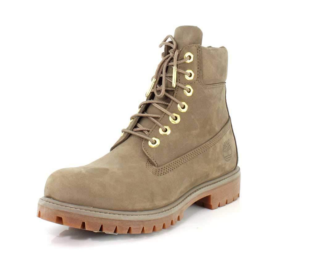 Timberland Men's 6'' Premium Boot New Greige Waterbuck 7 D US