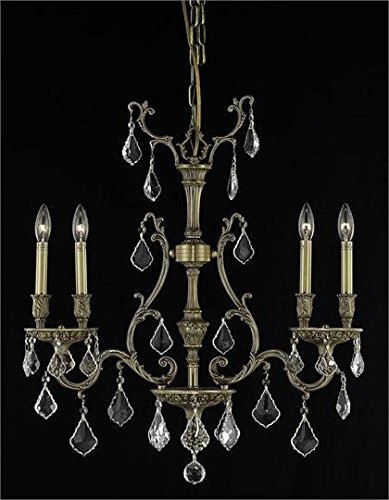Sage French Gold Traditional 4-Light Hanging Chandelier Swarovski Spectra Crystal in Crystal (Clear)-8164D26FG-SA--6