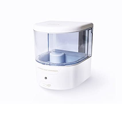 Dispensador de jabón, dispensador automático de jabón sin manos, ajustable, sensor de movimiento