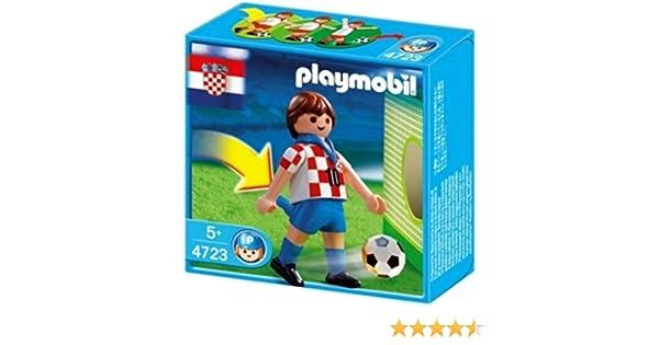 PLAYMOBIL 4723 Croacia Jugador de fútbol: Amazon.es: Juguetes y juegos
