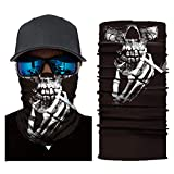 KEERADS Halloween Party Dark Clown Skeleton Print Cycling Motorcycle Ski Scarf Mask Balaclava (E)