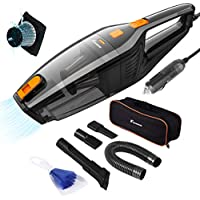 Foxnovo DC 12V 120W High Power Wet Dry Portable Handheld Auto Vacuum Cleaner for Car