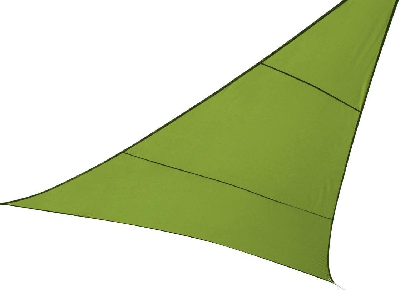 HESPERIDE Toldo vela parasol triangular 2 x 2 x 2 m, en tela impermeable - Color VERDE: Amazon.es: Hogar