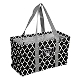 Logo Brands NFL Oakland Raiders Picnic Caddy Quatrefoil Caddy Tote, One Size, Black