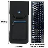 ENHANCE Keyboard Sleeve Travel Case for Full-Size