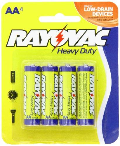 Rayovac Heavy Duty батареи AA, 5AA-4D, 4-Pack