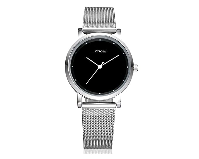 Reloj De Mujer De Moda 2018 Women Ultra Thin Quartz Watch Mesh Belt Stainless Steel Band