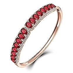 Rose Gold Diamond Ruby Bracelet