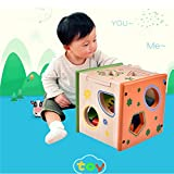 Sealive Puzzle Intelligence Box Geometry Building Baby Early Childhood Cognitive Enlightenment Children'S Toys Wooden Cube Color Learn¡­