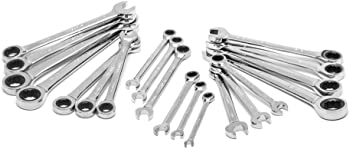 Husky 30-Piece SAE/MM Ratcheting Wrench Set with Stubby