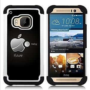GIFT CHOICE / Defensor Cubierta de protección completa Flexible TPU Silicona + Duro PC Estuche protector Cáscara Funda Caso / Combo Case for HTC ONE M9 // iFuture //