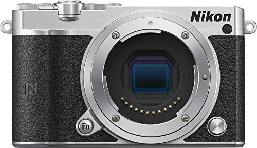 Nikon-1-J5-Mirrorless-Digital-Camera-Silver-Body-Only-International-Model-No-Warranty