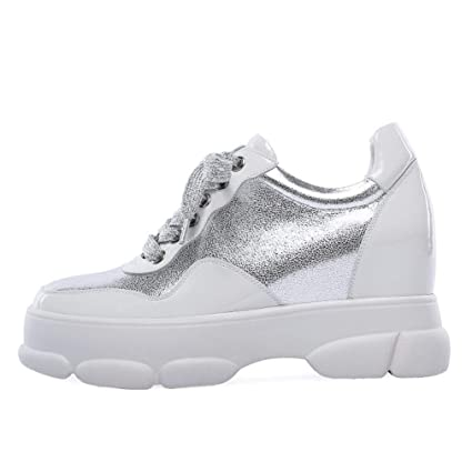 8e54522cab700 Amazon.com: YXB Women's Sneakers Spring Fall Leather Casual Shoes ...