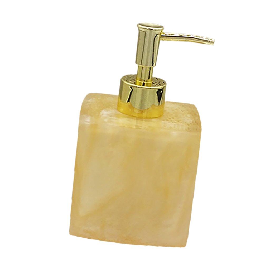 (8.5 7.8 15cm, Yellow) - MonkeyJack Resin Soap Shampoo Dispenser Bath Liquid Body Lotion Pump Bottle/Jar VARIOUS - Yellow, 8.5 7.8 15cm B077XBJ9PX イエロー 8.5×7.8×15cm