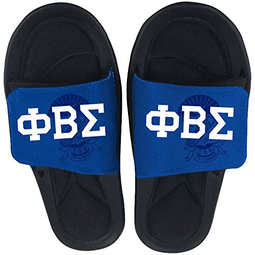 Express Ontwerp Groep Phi Beta Sigma Dia Op Veelkleurige Sandalen