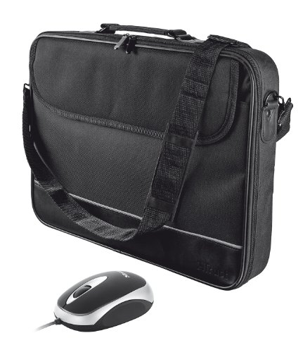 for Mouse Black with Trust Bag Laptops 16 15 Carry Inch E8g8qO