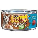 #8: Purina Friskies Extra Gravy Pate With Tuna in Savory Gravy Adult Wet Cat Food - Twenty-Four (24) 5.5 oz. Cans