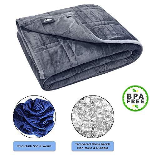 Cheap P&R Ultra Plush Weighted Blanket - | Minky Warm Luxury | Designer Blanket | Enjoy Quality Sleep Anywhere (Grey/Grey 7) Black Friday & Cyber Monday 2019