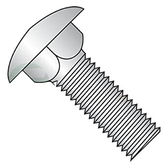 Quantity: 500 3//8-16 X 1 Carriage Bolts//Fully Threaded//Steel//Black Oxide