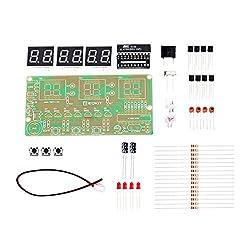 WHDTS C51 6 Bits DIY Digital Electronic Clock Kit AT89C2051 Chip Alarm Clock Kit Soldering Practice Learning Kits