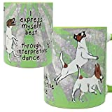 Jack Russell Interpretive Dance Mug by Pithitude - One Single 11oz. Green Coffee Cup