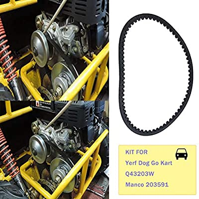 Q43203W Go Cart Belt 30 Series for Compatible with Yerf Dog Drive Belt Q43103W Manco 203591 5.5hp 6.5hp Kartco 7655 Rotary 12-10052 Belt Replace 3203 3002 Go Kart Models(4 Pack): Automotive