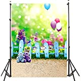 OMG_Shop 3x5ft Photo Studio Prop Children Backdrop Bear Balloon Baby Kids Photography Background