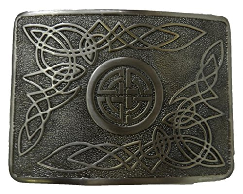 Scottish Kilt belt buckle #28 Antiqued Black Finish