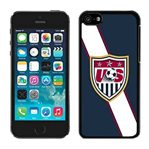 USA Soccer 4 Black Case for iPhone 5C,Prefectly fit and directly access all the features