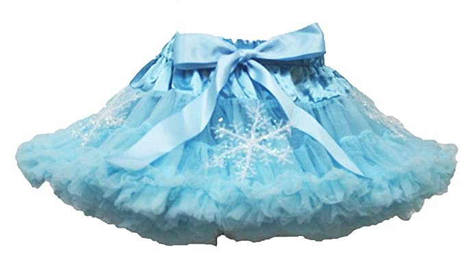 eabd2fa1b5 Petitebelle Dress Silver Snowflake Light Blue Pettiskirt Skirt Girl Tutu  1-8y: Amazon.co.uk: Clothing