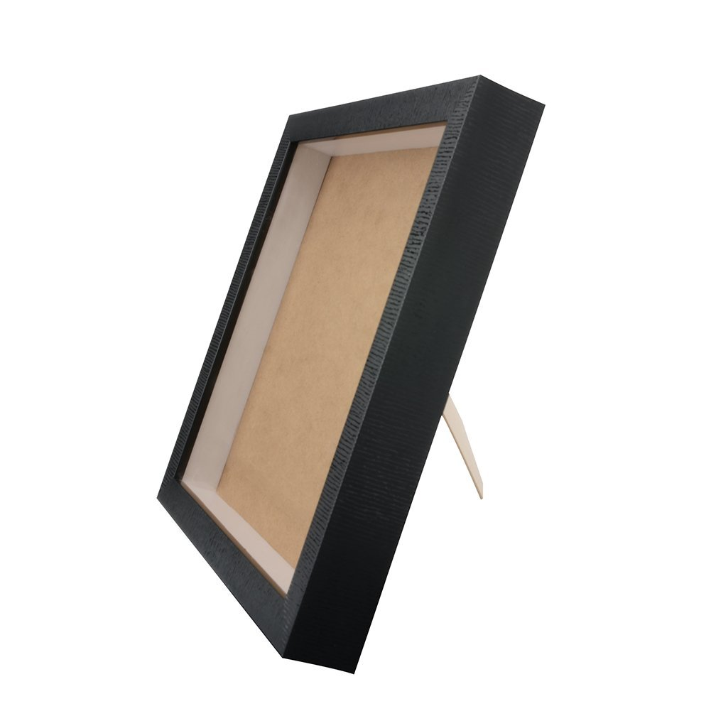 Orangehome 12 x 12 Shadow Box Frame Picture Frame Wall Display Case Pin Medal Display Case(Black, 12 x 12 Inch)