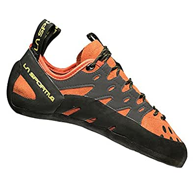 La Sportiva Men's TarantuLace Performance Rock Climbing Shoe, Flame, 34 (US Men's 2.5) D - Medium