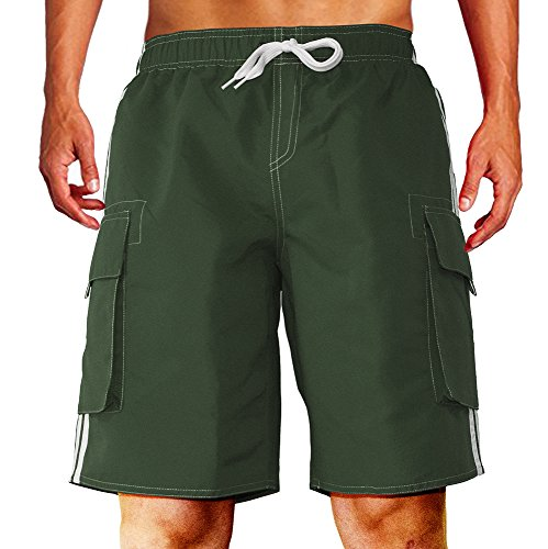 a6ee26d454 Dwar Men's Swim Trunks, Beach Shorts with Mesh Lining Watershort Swimsuit  with Cargo Pockets - Buy Online in Oman. | Apparel Products in Oman - See  Prices, ...