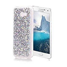 OuDu Samsung Galaxy A5 2017 SM-A520F Case, Bling Glitter Case TPU Silicone Cover for Samsung Galaxy A5 2017 SM-A520F Sparkle Style Cover Gel Rubber Shell Flexible Soft Bumper - Silver