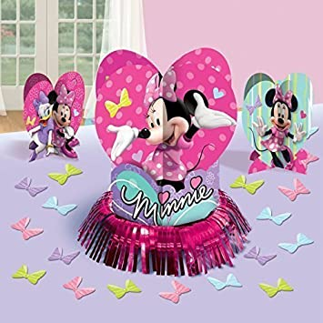 Amazon Com Disney Minnie Mouse Party Table Decorations Kit