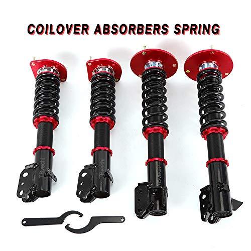 (Coilover Absorbers, TBVECHI 4 Pcs Adjustable Coil Coilover Suspension Spring Over Shocks & Struts for Dodge Neon SRT-4 2.4L 2003-2005 Red)