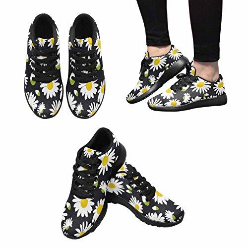 InterestPrint Womens Casual Soft Sports Road Running Walking Shoes Daisies Multi 1 W5C16BA