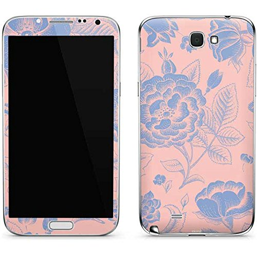 Floral Patterns Galaxy Note II Skin - Rose Quartz & Serenity Floral Vinyl Decal Skin For Your Galaxy Note II