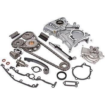 Evergreen TK3024WOPT Fits Nissan GA16DE DOHC Timing Chain Kit, Oil Pump, and Water Pump