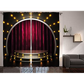 Amazon Com Ambesonne Theatre Curtains Stage Arts Drapes