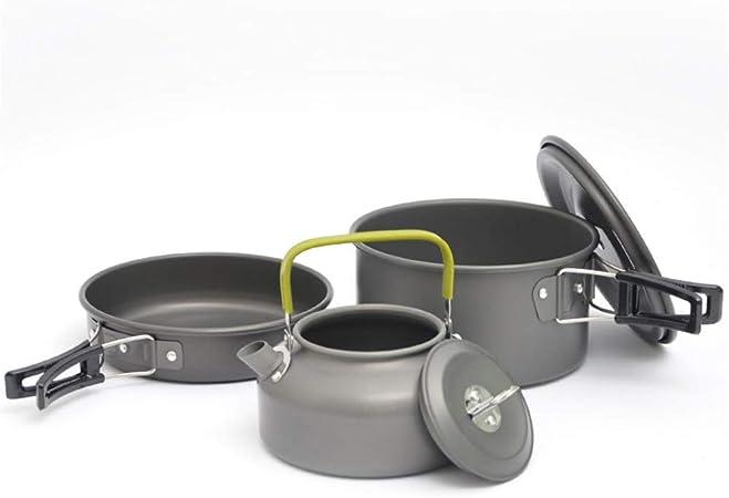 XGTsg Cocina De Camping Camping Pot Set Outdoor 2-3 Persona ...