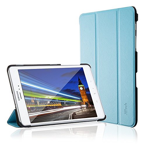 Galaxy Tab A 8.0 Case, JETech Slim-Fit Case Cover for Samsung Galaxy Tab A 8.0 inch 2015 Tablet with Auto Sleep/Wake Feature (Blue) (Galaxy Tab Samsung Covers Light)