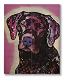 Dean Russo Black Lab Printed on 11x14 Wood Pallet Slats Wall Art Sign Plaque Distressed Design