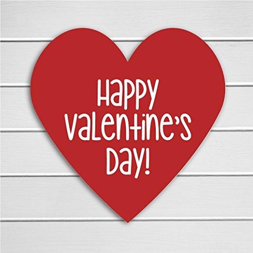 48 Heart Stickers, Happy Valentine's Day Stickers, Red Valentine Stickers (#703)