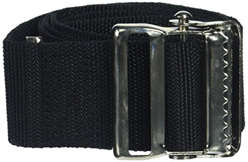 Prestige Medical Nylon Gait Transfer Belt with Metal Buckle, Black, 4.3 Ounce