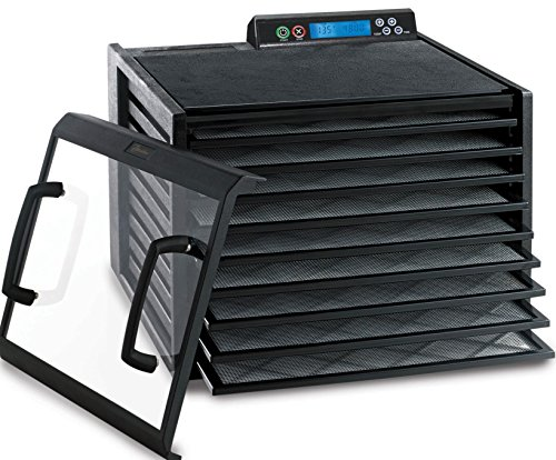 Excalibur 9-Tray Food Dehydrator Clear for Progress Adjustable Thermostat Shut Off 15 Square Feet Space Made 9-Tray, Black