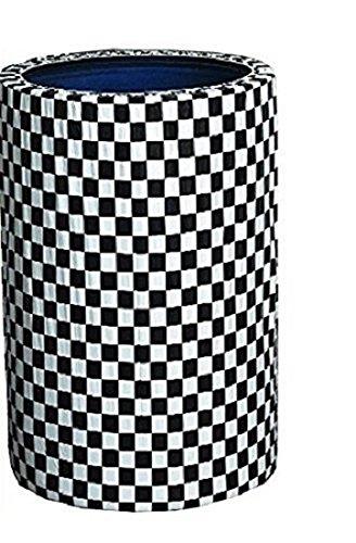 2 Black & White Checker Kwik-Covers 55 Gallon Custom Fit Gar