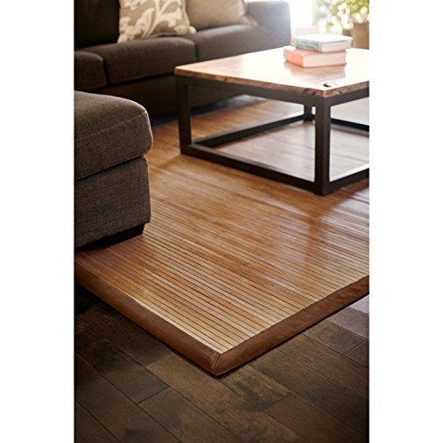 Bambusteppich Classic 140x200cm, 17mm Stege, breite Bordüre, massives massives massives Bambus   Bordürenteppich   Teppich   Bambusmatte   Wohnzimmer   Küche DE-Commerce   nachhaltig und ökologisch 49bf8b