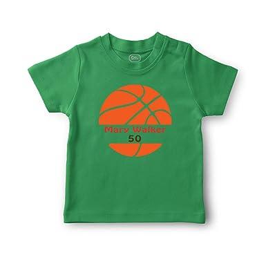 616a01d8911 Personalized Custom Basketball Player Sport Cotton Short Sleeve Crewneck  Boys-Girls Toddler T-Shirt