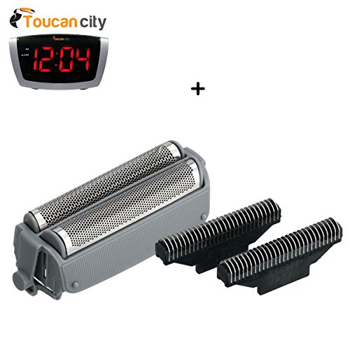 Toucan City LED Alarm clock and Panasonic Combo Foil/Blade for ES4025 WES9839P ()